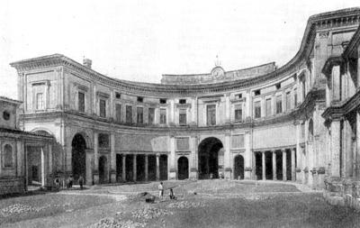 Архитектура эпохи Возрождения в Италии: Рим. Вилла папы Юлия III. Первый двор. Виньола