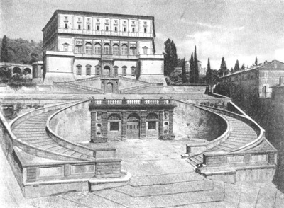 Архитектура эпохи Возрождения в Италии: Капрарола близ Витербо. Замок Фарнезе, с 1559 г. Виньола