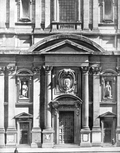 Архитектура эпохи Возрождения в Италии: Рим. Церковь Иль Джезу. Фрагмент фасада