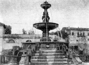 Архитектура эпохи Возрождения в Италии: Витербо. Фонтан на пьяцца делла Рокка. Виньола