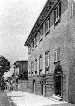 Архитектура эпохи Возрождения в Италии: Ареццо. Дом Вазари, 1542 г. Вазари. Фасад