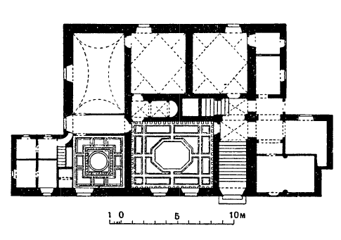 Архитектура эпохи Возрождения в Италии: Ареццо. Дом Вазари, 1542 г. Вазари. План
