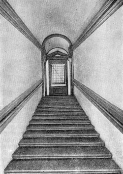 Архитектура эпохи Возрождения в Италии: Флоренция. Палаццо Веккио (или Синьории). Лестница, 1555 г. Вазари