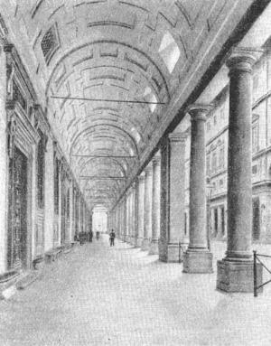 Архитектура эпохи Возрождения в Италии: Флоренция. Уффици. Галерея первого этажа