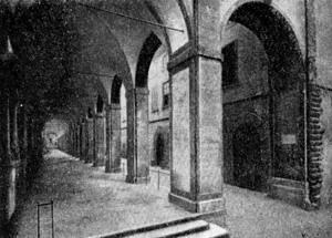 Архитектура эпохи Возрождения в Италии: Ареццо. Лоджия, 1573 г. Вазари