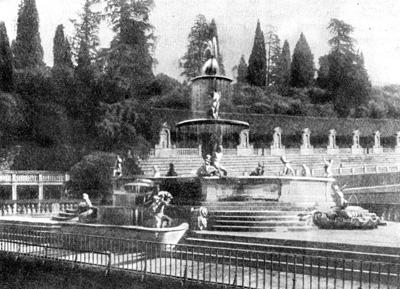 Архитектура эпохи Возрождения в Италии: Флоренция. Палаццо Питти. Фонтан над гротом и амфитеатр