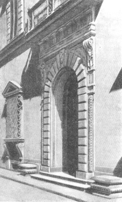 Архитектура эпохи Возрождения в Италии: Флоренция. Палаццо Джуньи, до 1577 г., Амманати.Деталь главного фасада