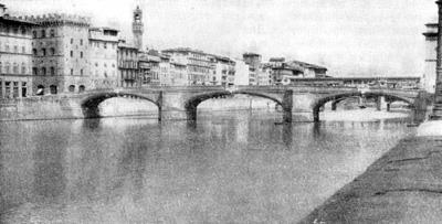Архитектура эпохи Возрождения в Италии: Флоренция. Мост Санта Тринита, 1567 г. Амманати