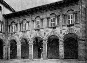 Архитектура эпохи Возрождения в Италии: Лукка. Палаццо делла Синьория, 1578 г. Амманати. Аркада двора