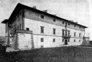 Архитектура эпохи Возрождения в Италии: Синья, близ Флоренции. Вилла Артимино, 1594 г. Буонталенти.Южный фасад