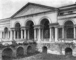 Архитектура эпохи Возрождения в Италии: Мантуя. Палаццо дель Те, 1526—1534 гг. Джулио Романо.Садовая лоджия