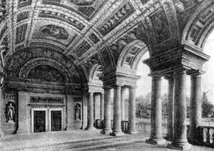 Архитектура эпохи Возрождения в Италии: Мантуя. Палаццо дель Те, 1526—1534 гг. Джулио Романо.Интерьер садовой лоджии