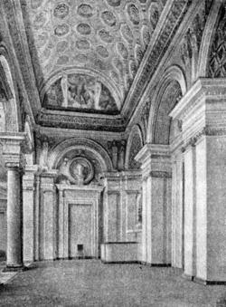 Архитектура эпохи Возрождения в Италии: Генуя. Вилла Камбьязо, 1552 г. Алесси. Лоджия второго этажа