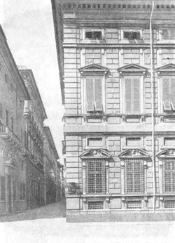 Архитектура эпохи Возрождения в Италии: Генуя. Палаццо Камбьязо, 1552 г. Алесси. Фрагмент фасада