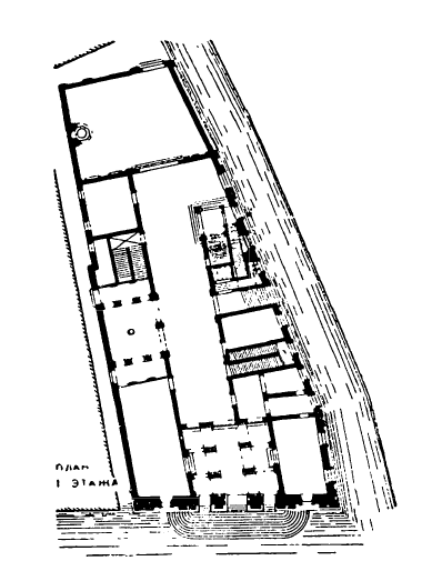 Архитектура эпохи Возрождения в Италии: Венеция. Палаццо Гримани, начато в 1556 г. Микеле Санмикели.План