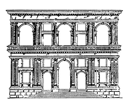 Архитектура эпохи Возрождения в Италии: Венеция. Палаццо Гримани, начато в 1556 г. Микеле Санмикели.Фасад (реконструкция первоначального замысла)