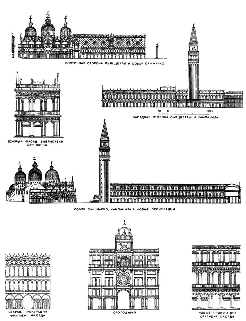 Архитектура эпохи Возрождения в Италии: Венеция. Сооружения на площади Сан Марко