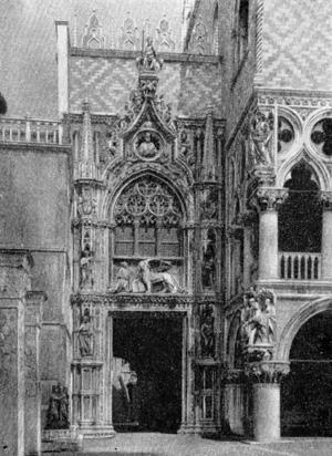 Архитектура эпохи Возрождения в Италии: Венеция. Порта делла Карта, с 1438 г. Дж. Бон и Б. Бон Старший