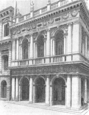 Архитектура эпохи Возрождения в Италии: Венеция. Библиотека Сан Марко. Торцовый фасад