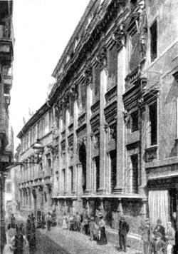 Архитектура эпохи Возрождения в Италии: Виченца. Палладио. Палаццо Вальмарана