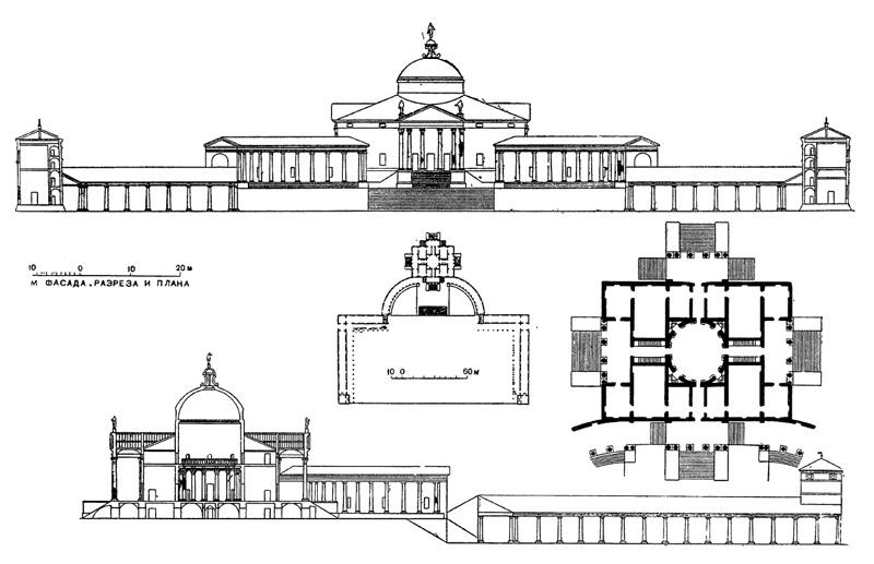 Архитектура эпохи Возрождения в Италии: Меледо. Вилла Триссино, проект 1553 г. Палладио