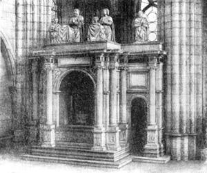 Архитектура Франции эпохи Возрождения: Сен-Дени. Гробница Франциска I, 1557—1558 гг. Ф. Делорм