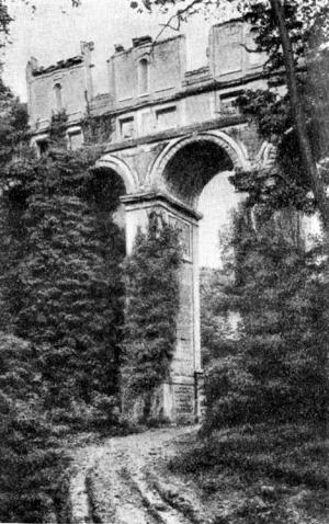 Архитектура Франции эпохи Возрождения: Фэр-ан-Тарденуа. Галерея-виадук, середина XVI в. Бюллан
