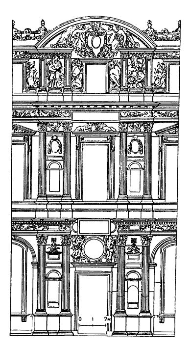 Архитектура Франции эпохи Возрождения: Париж. Дворец Лувр, с 1546 г. Пьер Леско и скульптор Жан Гужон.Фрагмент дворового фасада