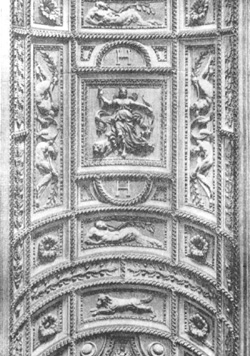 Архитектура Франции эпохи Возрождения: Париж. Дворец Лувр, с 1546 г. Пьер Леско и скульптор Жан Гужон.Потолок лестницы